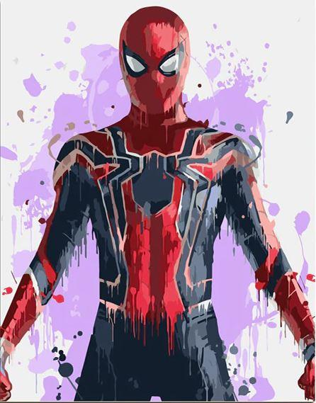 SPIDERMAN Paint By Numbers Kit For Adult Kids Gift Acrylic Paint 40X50 Cm NEW
