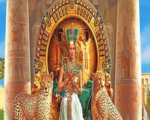people-egyptian-pharaoh-with-two-leopards-paint-by-numbers