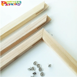 Wooden frame for paint by numbers canvas