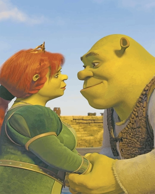 Shrek And Fiona New Paint By Numbers Numeral Paint