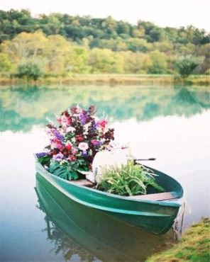 boat and flowers