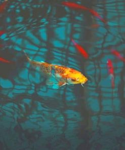 Koi Yellow Fish paint by numbers