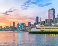 Seattle-Skyline-Summer-adult-paint-by-numbers