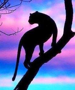 Tiger Silhouette paint by numbers