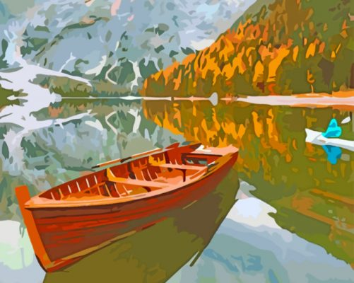 Aesthetic Boat Paint by numbers