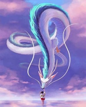 Chihiro and haku paint by numbers