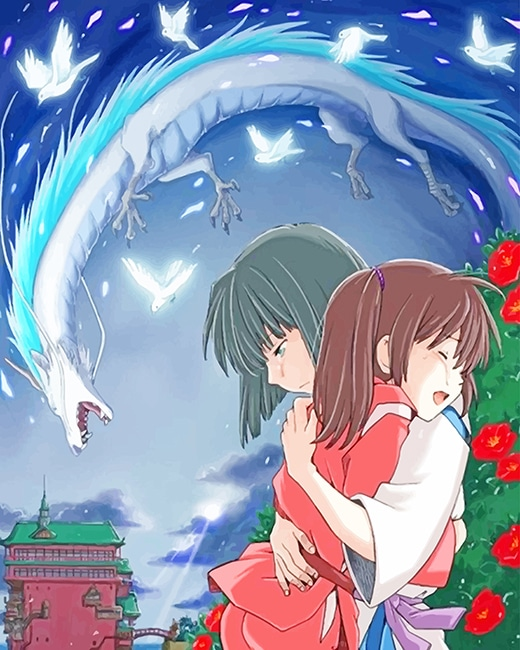 Haku And Chihiro Spirited Away New Paint By Numbers Numeral Paint