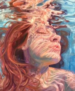 Red Head Woman In The Water paint by numbers