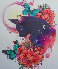 Aesthetic Cat Art paint by numbers