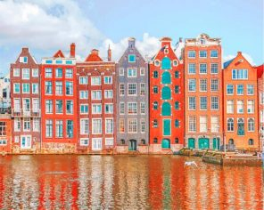 Amsterdam Architecture paint by numbers