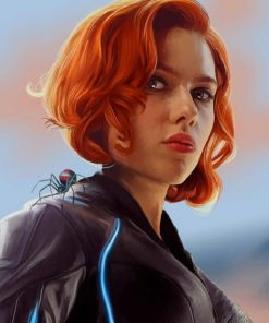 Black Widow paint by numbers