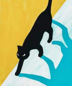 Black Cat Art paint by numbers