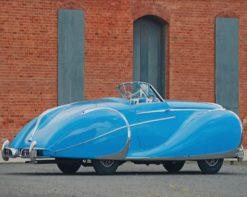 Blue Vintage Car paint by number