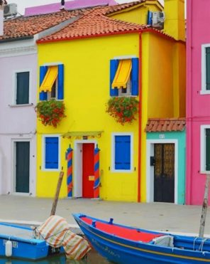 Burano Venice Italy Paint by numbers