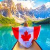 Canada Flag In Banff National Park paint by numbers