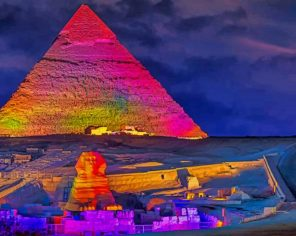 Colored Pyramids paint by number
