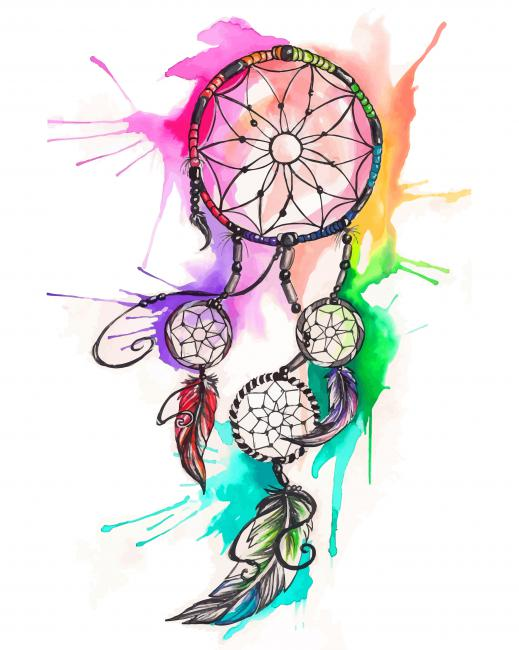 Colorful Dream Catcher paint by numbers