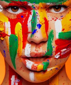 Colorful Face paint by numbers