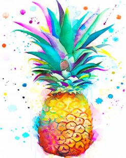 Colors Splash Pineapple paint by numbers