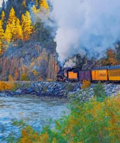 Durango Train Way paint by number