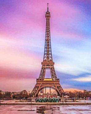 Eiffel Tower Paris paint by numbers