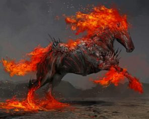 Fire Horse paint by number