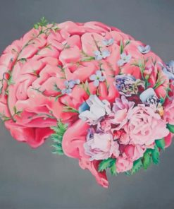 Floral Human Brain paint by numbers