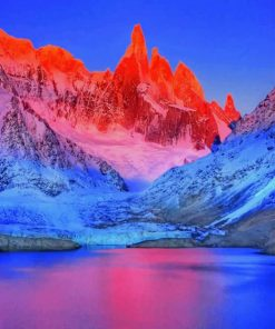Frozen Mountains View paint by numbers
