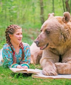 Girl And Bear paint by numbers