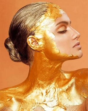 Golden Girl paint by numbers
