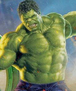 Strong Hulk paint by numbers