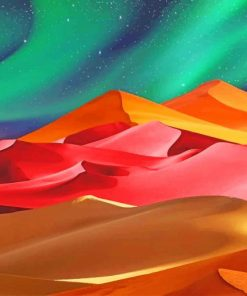 Illustration Colored Desert paint by numbers