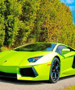 Lamborghini Aventador paint by numbers