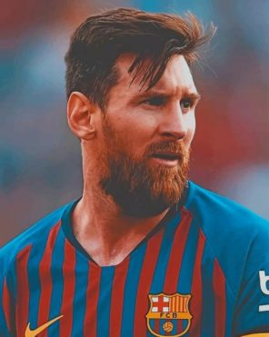 Lionel Messi Barcelona paint by numbers