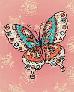 Mandala Butterfly paint by numbers