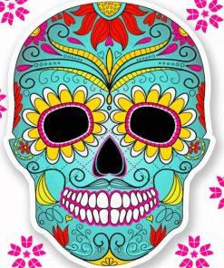 Mandala Skull paint by numbers