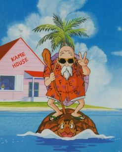 Master Roshi paint by numbers