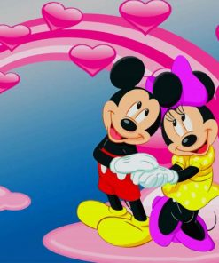 Mickey And Minnie Love paint by numbers