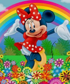 Minnie In Garden paint by numbers