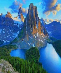Mount Assiniboine Provincial Park Canada paint By Numbers