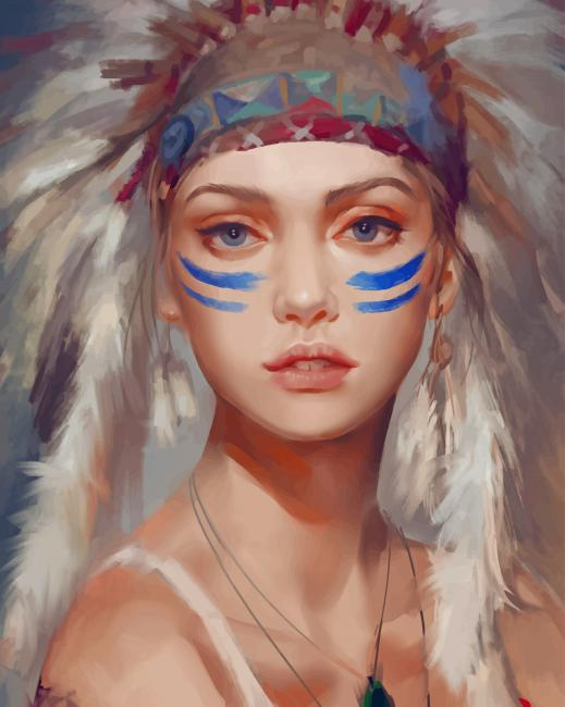 Native Girl paint by numbers