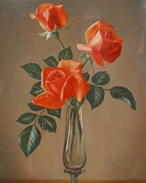 Orange Flowers Still Life paint by numbers