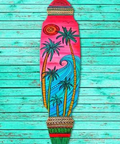 Painted Longboard paint by numbers