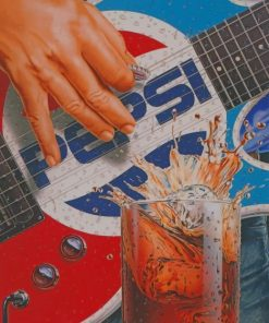 Pepsi Guitar paint by numbers