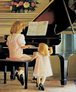 Piano Girls paint by number
