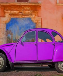 Purple VW paint by numbers