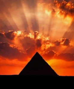 Pyramid Silhouette paint by numbers