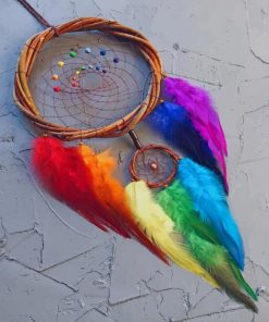 Rainbow Dream Catcher paint by numbers