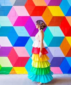 Rainbow Mural paint by numbers