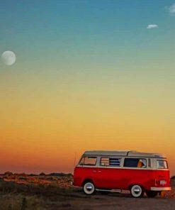 Red Van paint by numbers
